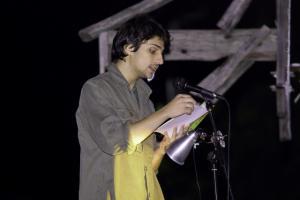 12 Damjan Reading poetry